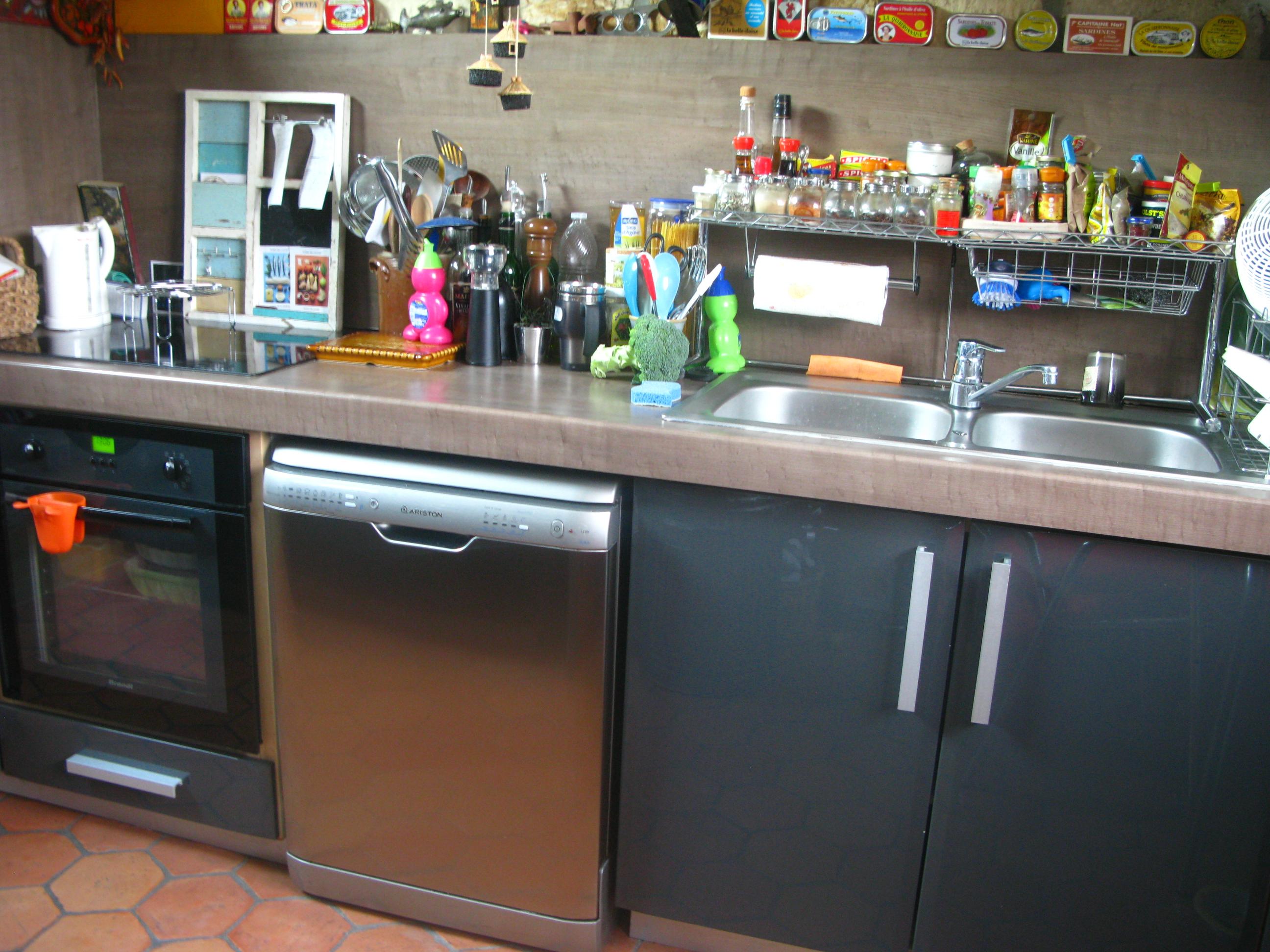 Duplex magnifique pi ce vivre sous les toits cuisine for Cuisine americaine amenagee